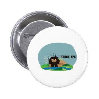 Cute Cartoon Skunk Ape 6 Cm Round Badge