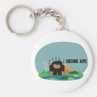 Cute Cartoon Skunk Ape Basic Round Button Key Ring