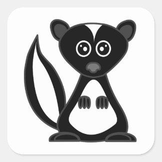 Cute Cartoon Skunk Square Square Sticker