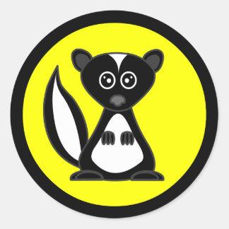 Cute Cartoon Skunk Yellow  Stickers
