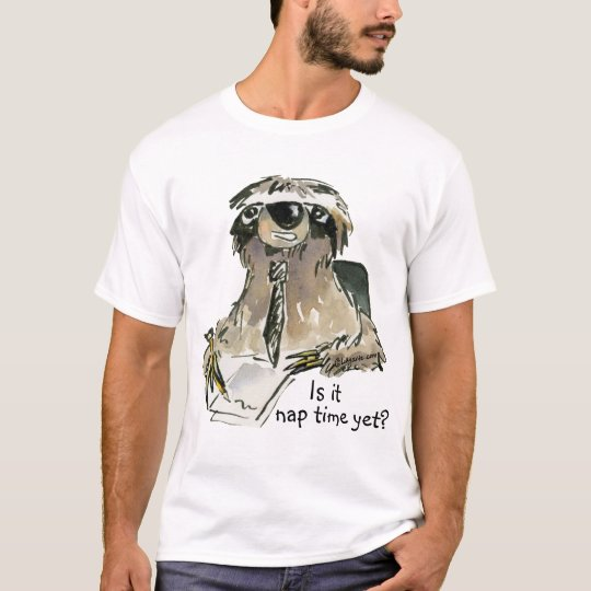 Cute Cartoon Sloth Tee Shirt