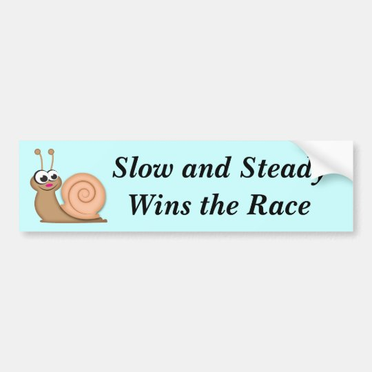 Cute Cartoon Snail Bumper Sticker