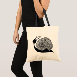 Cute Cartoon Snail Character With Spiral Eyes Tote Bag