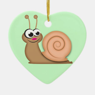Cute Cartoon Snail Christmas Ornament