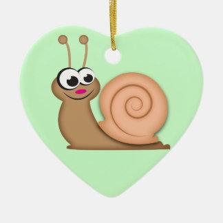 Cute Cartoon Snail Christmas Ornament