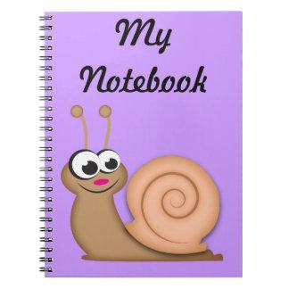 Cute Cartoon Snail Notebook