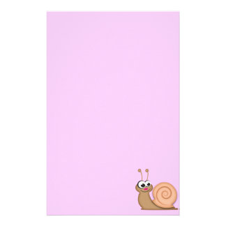 Cute Cartoon Snail Stationery