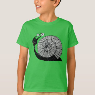 Cute Cartoon Snail With Spiral Eyes Kids T-Shirt