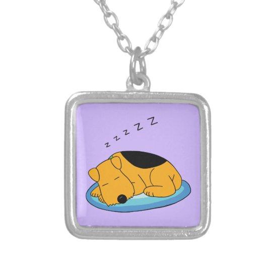 Cute Cartoon Snoring Puppy Dog Necklace