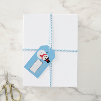 Cute Cartoon Snowman Winter Christmas Gift Tag