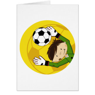 Cute Cartoon Soccer Football Goalkeeper Card