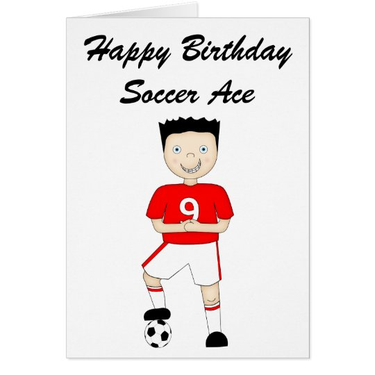 Cute Cartoon Soccer or Football Player in Red