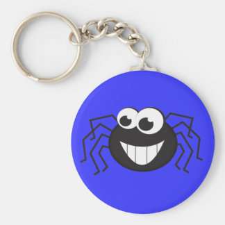 Cute Cartoon Spider Basic Round Button Key Ring