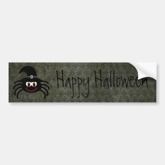 Cute Cartoon Spider Vintage Grunge Happy Halloween Bumper Sticker