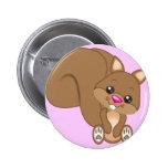 Cute Cartoon Squirrel 6 Cm Round Badge