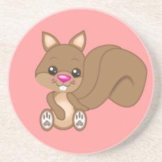 Cute Cartoon Squirrel Coaster