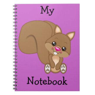 Cute Cartoon Squirrel Notebook
