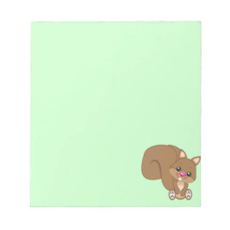 Cute Cartoon Squirrel Notepad