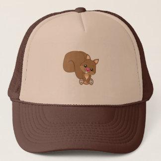 Cute Cartoon Squirrel Trucker Hat
