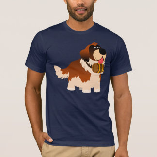 Cute Cartoon St Bernard T-Shirt