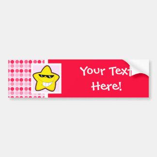 Cute Cartoon Star Bumper Sticker