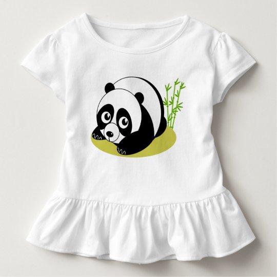 Cute cartoon style black and white panda bear,