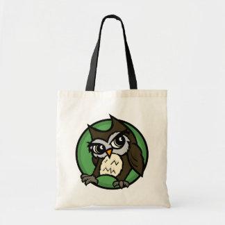 CUTE CARTOON STYLE OWL BUDGET TOTE BAG