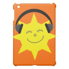 Cute Cartoon Sun DJ Customisable Orange Cover For The iPad Mini