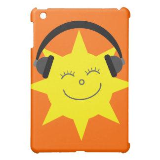Cute Cartoon Sun DJ Customizable Orange Cover For The iPad Mini