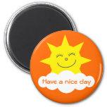 Cute Cartoon Sun Have A Nice Day Orange Custom