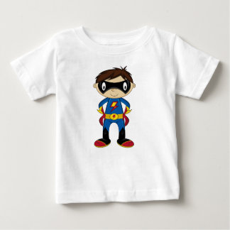 Cute Cartoon Superhero Baby T-Shirt
