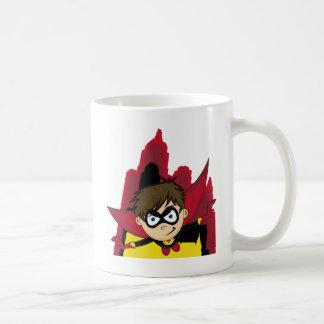 Cute Cartoon Superhero Coffee Mug
