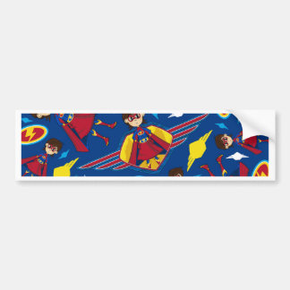 Cute Cartoon Superhero Pattern Bumper Stickers