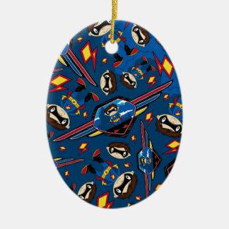 Cute Cartoon Superhero Pattern Ornament