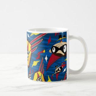 Cute Cartoon Superhero Pattern Coffee Mugs