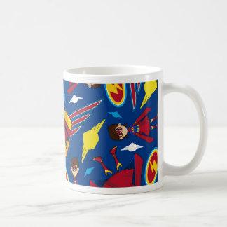 Cute Cartoon Superhero Pattern Mug