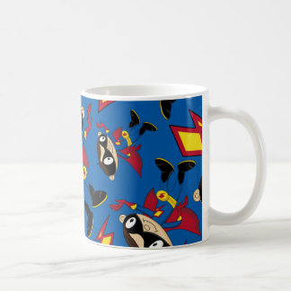 Cute Cartoon Superhero Pattern Coffee Mug