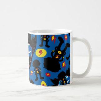 Cute Cartoon Superhero Silhouette Pattern Coffee Mugs