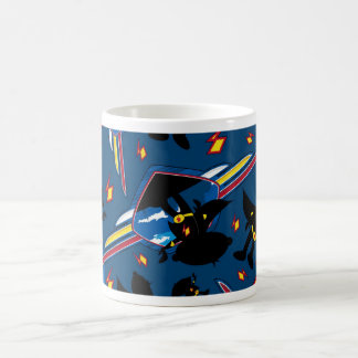 Cute Cartoon Superhero Silhouette Pattern Coffee Mug