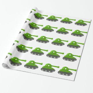 Cute Cartoon Tank Wrapping Paper