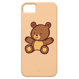 Cute Cartoon Teddy Bear iPhone 5 Barely There Case
