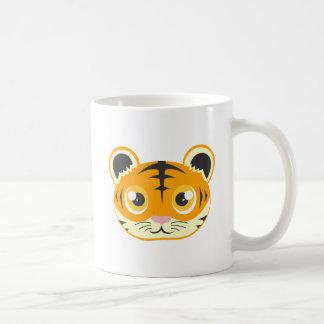 Cute Cartoon Tiger Basic White Mug