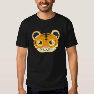 Cute Cartoon Tiger Head Tee Shirt
