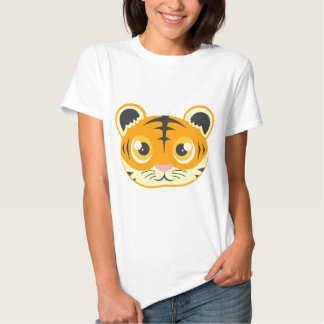 Cute Cartoon Tiger Head Tshirt