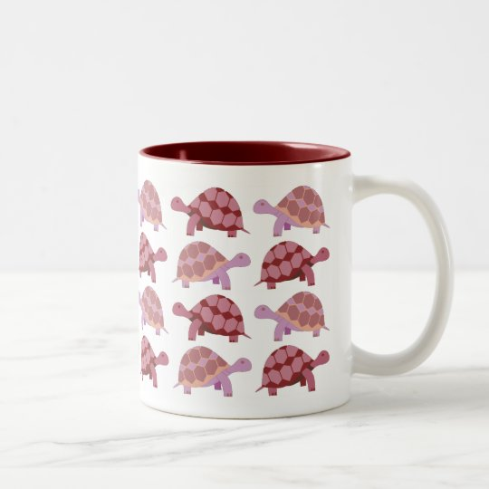 Cute Cartoon Tortoise Pattern Two-Tone Coffee Mug