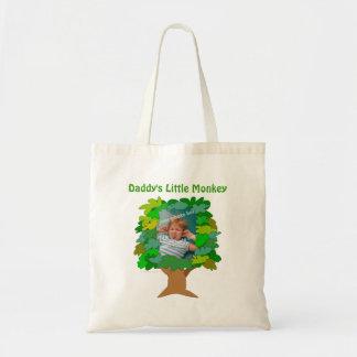 Cute Cartoon Tree Little Monkey Custom Photo Tote Bag