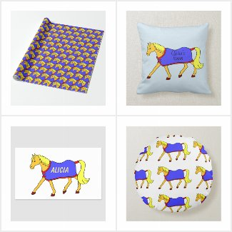 Cute Cartoon Trotting Pony Designs