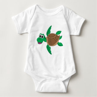 Cute Cartoon Turtle Baby Bodysuit
