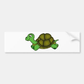 Cute Cartoon Turtle Bumper Sticker