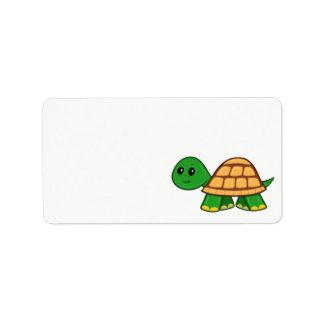 Cute Cartoon Turtle Label Address Label